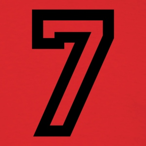 Red number - 7 - seven T-Shirts - Men's T-Shirt