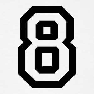 White number - 8 - eight T-Shirts - Men's T-Shirt