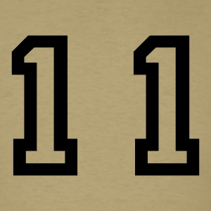 Khaki number - 11 - eleven T-Shirts - Men's T-Shirt