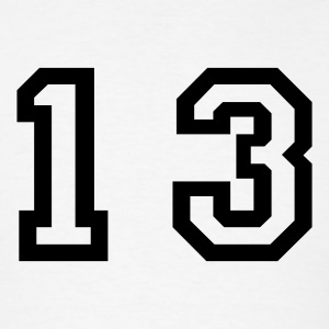 White number - 13 - thirteen T-Shirts - Men's T-Shirt