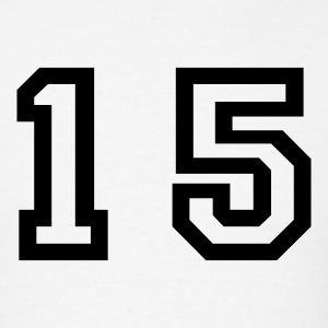 White number - 15 - fifteen T-Shirts - Men's T-Shirt