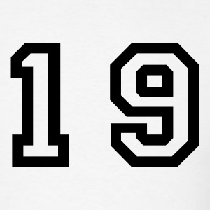 White number - 19 - nineteen T-Shirts - Men's T-Shirt