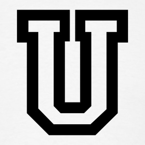 White Letter U T-Shirts - Men's T-Shirt