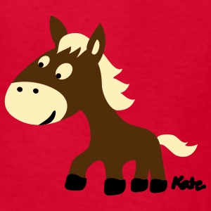 Red Pony (3c) Kids' Shirts - Kids' T-Shirt