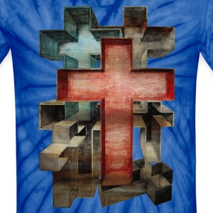 """Crosses in Perspective"" - Unisex Tie Dye T-Shirt"