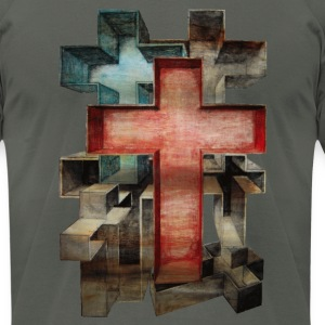 Crosses in Perspective - Men's T-Shirt by American Apparel