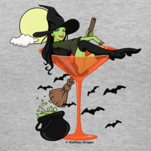 Halloween Girl Martini V Neck Tee - Women's V-Neck T-Shirt