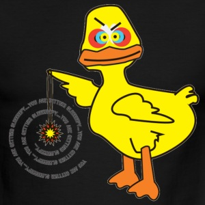 Sky/navy Hypno-Duck T-Shirts - Men's Ringer T-Shirt