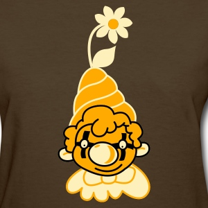 Brown cool clown with flower and cute hat Women's T-Shirts - Women's T-Shirt