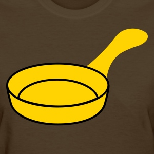 Brown empty frying pan Women's T-Shirts - Women's T-Shirt