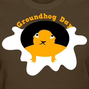 Brown groundhog day with snow Women's T-Shirts - Women's T-Shirt