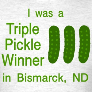 Random T-shirt Pickle Bismarck, ND funny - Men's T-Shirt