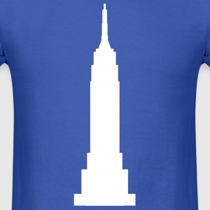 Royal blue Empire State Building White  T-Shirts - Men's T-Shirt