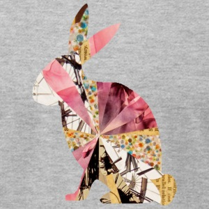 Heather grey COLLAGE ART BUNNY T-Shirts - Men's T-Shirt by American Apparel