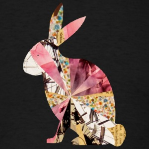 Black COLLAGE ART BUNNY T-Shirts - Men's T-Shirt
