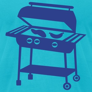 Turquoise Barbecue - BBQ T-Shirts - Men's T-Shirt by American Apparel