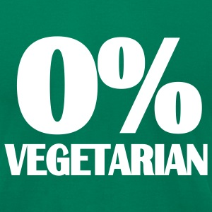 Kelly green Vegetarian - BBQ T-Shirts - Men's T-Shirt by American Apparel