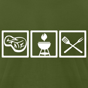 Olive Grill T-Shirts - Men's T-Shirt by American Apparel