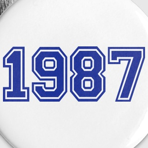 White 1987 Buttons - Large Buttons