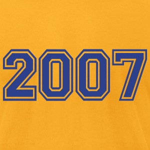Gold 2007 T-Shirts - Men's T-Shirt by American Apparel