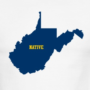 White/black wvnative T-Shirts - Men's Ringer T-Shirt