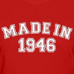 Red Made in 1946 Women's T-Shirts - Women's T-Shirt