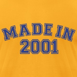 Gold Made in 2001 T-Shirts - Men's T-Shirt by American Apparel