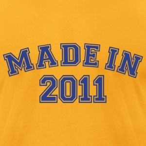 Gold Made in 2011 T-Shirts - Men's T-Shirt by American Apparel