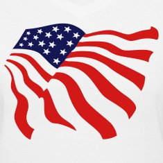 White american flag Women's T-Shirts