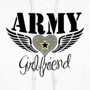 White Army Girlfriend Winged Heart Hoodies - Women's Hoodie
