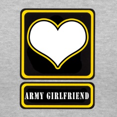 Gray US Army Girlfriend Logo Women's T-Shirts