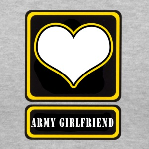 Gray US Army Girlfriend Logo Women's T-Shirts - Women's V-Neck T-Shirt