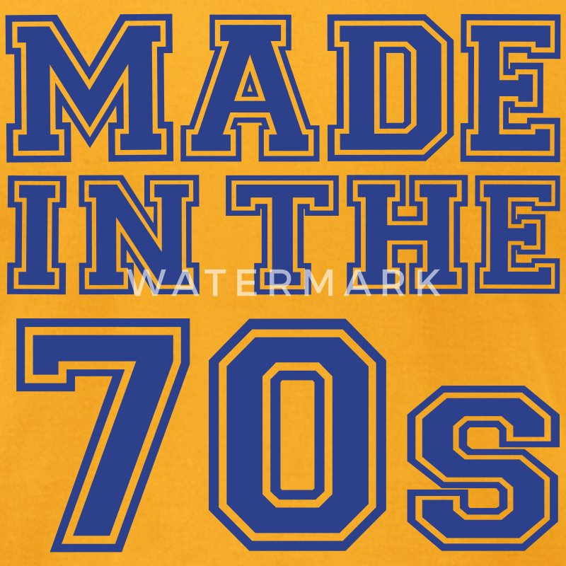Gold Made in the 70's T-Shirts - Men's T-Shirt by American Apparel