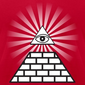 Red all seeing eye T-Shirts - Men's T-Shirt by American Apparel
