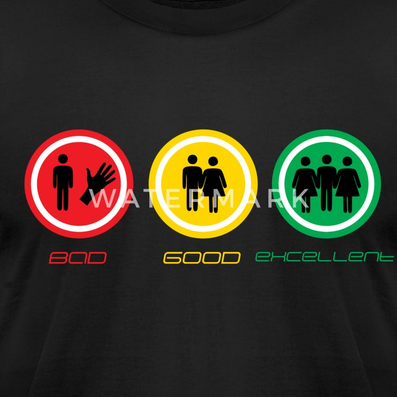 Bad-Good-Excellent - Men's T-Shirt by American Apparel