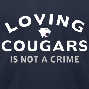 Navy Loving Cougars T-Shirts - Men's T-Shirt by American Apparel