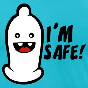 Turquoise i´m safe T-Shirts - Men's T-Shirt by American Apparel