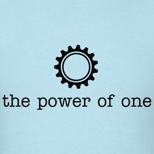 The Power of One Celeste Blue - Men's T-Shirt