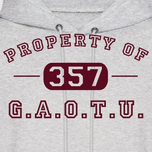 Ash  Property of G.A.O.T.U. 357 Hoodies - Men's Hoodie