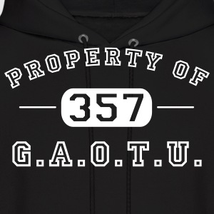 Black Property of G.A.O.T.U. 357 Hoodies - Men's Hoodie
