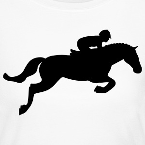 White Horse Jump Long Sleeve Shirts - Women's Long Sleeve Jersey T-Shirt