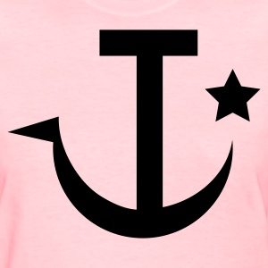Pink sickle russian or naval symbol Women's T-Shirts - Women's T-Shirt