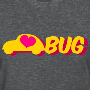 Deep heather love bug with a herbie car Women's T-Shirts - Women's T-Shirt