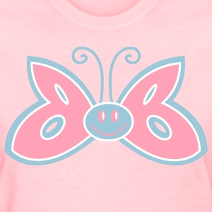 Pink butterfly cute winged creature Women's T-Shirts - Women's T-Shirt