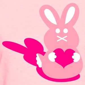 Pink bunny love rabbit cute with little love heart Mothers day ! Women's T-Shirts - Women's T-Shirt