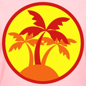 Pink palm trees in a circle travel island on a beach ! Women's T-Shirts - Women's T-Shirt