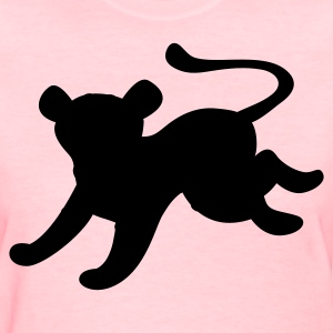 Pink cat jaguar cool jumping shape Women's T-Shirts - Women's T-Shirt