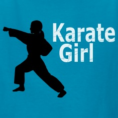 Karate Girl Kids Yellow T-Shirt