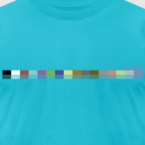 Turquoise colorPalette64 T-Shirts - Men's T-Shirt by American Apparel