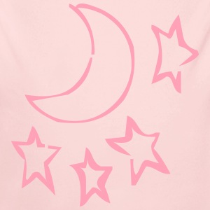 Light pink stars Baby Body - Long Sleeve Baby Bodysuit